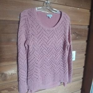 Lucky Brand Pink Knit Sweater Size L